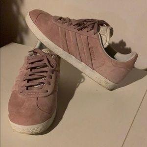 Light Pink Suede Gazelle Adidas Sneakers